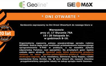 Świętujemy 20 lat Geoline w branży – nowe perspektywy, cele przy współpracy ze szwajcarska firmą Geomax