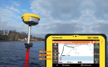 Odbiornik GNSS marki GEOMAX zgłębia tajniki Batymetrii