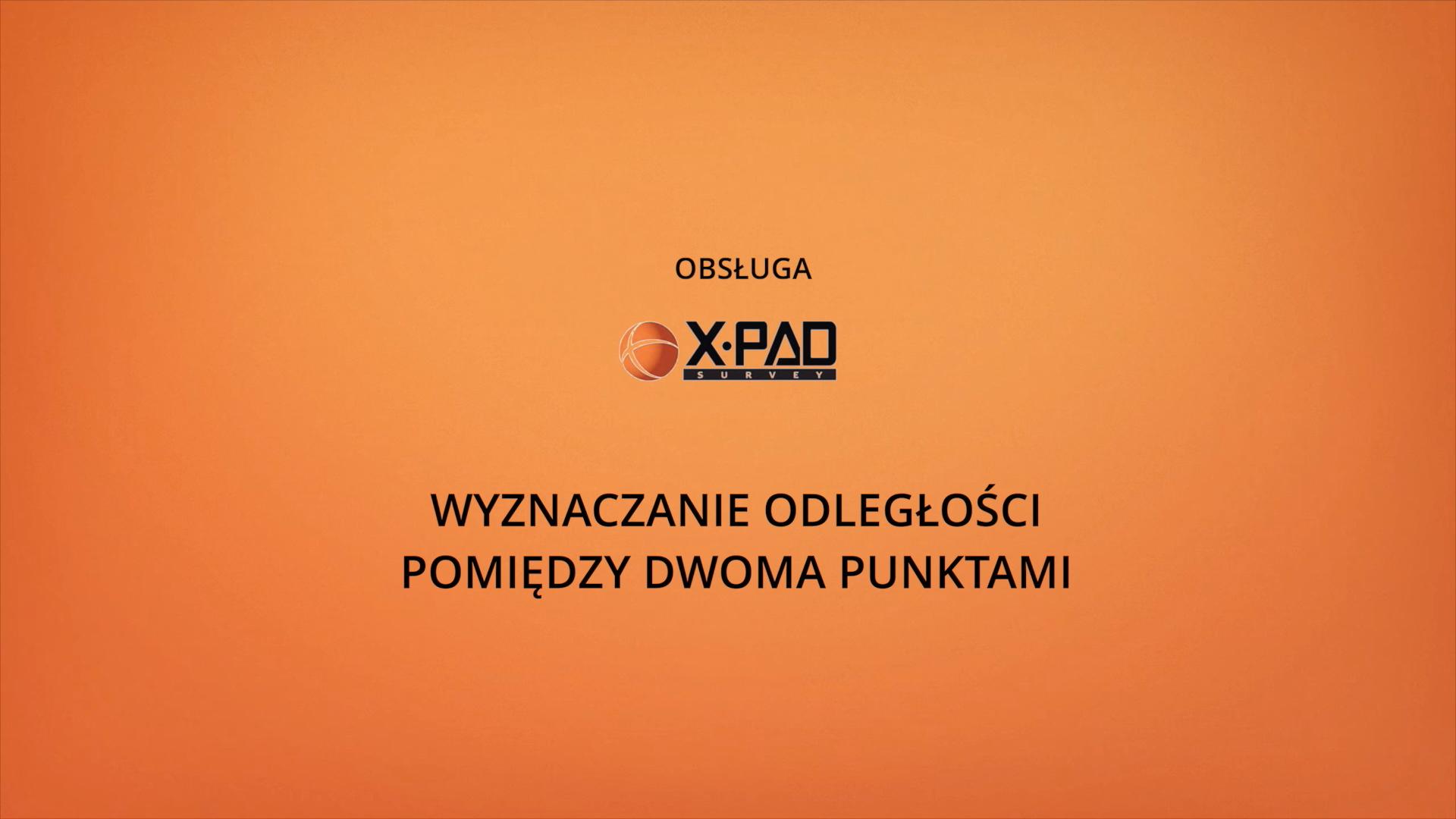 Wyznaczanie odległości pomiędzy dwoma punktami w xPad Geomax
